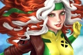 Picture look, Rogue, Rascal, green eyes, Marvel Comics, flight, Rogue, costume