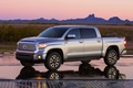 Picture Tundra, Machine, The view from the side, Pickup, Toyota, Reflection, Toyota, Grey, The evening