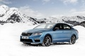 Picture Octavia, snow, mountains, sedan, Skoda, Octavia, Sedan, Skoda