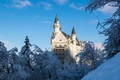 Picture winter, snow, castle, Germany, Neuschwanstein