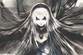Picture face, magic, wings, doll, red eyes, rozen maiden, suigintou, art, flowing hair, kei