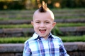 Picture Mohawk, baby, child, smile, hairstyle, hair, teeth, ears, boy