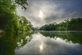 Picture the sky, California, Healdsburg, trees, river, clouds, USA