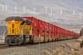 Picture train, locomotive, nature, railroad, rails, cars