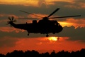 """Picture transport, """"Sea king, Sea King, silhouette, helicopter"""