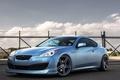 Picture blue, hyundai, Hyundai, profile, genesis, Genesis, blue