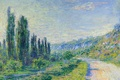 Picture landscape, The road from Vétheuil, picture, Claude Monet