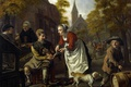 Picture people, picture, genre, Rural Scene with a Cobbler, Jan Victors
