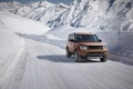 Picture 2015, snow, mountains, speed, winter, movement, Land Rover, Landmark, track, Discovery