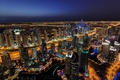 Picture lights, Dubai, night, Dubai Marina, the city