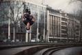 Picture Matthieu Helman, jump, flip-flops, the city