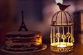 Picture candle, cake, Eiffel tower, widescreen, HD wallpapers, biscuit, bird, Wallpaper, cream, full screen, lantern, background, ...