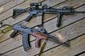 Picture Board, machine, Kalashnikov, rifle, Smith&Wesson, M&P15, semi-automatic