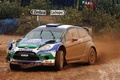 Picture Ford, Machine, Auto, Race, The front, Fiesta, Rain, Dirt, WRC, Rally, Sport, Overcast, Ford