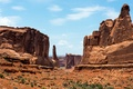 Picture Utah, rays, mountains, Arches National Park, the sun, rocks, USA