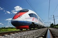 Picture Rails, Movement, The sky, Clouds, High speed, Train, Peregrine, Speed
