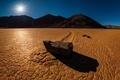 Picture stone, morning, desert, trail