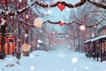 Picture snow, decoration, the city, mood, street, Holiday