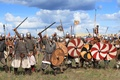 Picture the situation, battle, military, ammunition, camouflage, historical, squads, the Vikings, centuries., voynovo field, Rus, the ...