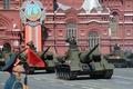 Picture the city, victory day, Moscow, installation, red square, Soviet, SU-100, (SAU), self-propelled artillery