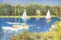Picture sail, landscape, river, The Seine at Argenteuil, boat, picture, Claude Monet