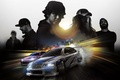 Picture Home, Road, Lights, Night, The city, Smoke, Tuning, Speed, Machine, Lights, Need for Speed, Electronic ...