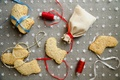 Picture sweets, holiday, Christmas, cookies, bows, new year, bag, Christmas