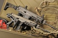 Picture weapons, pair, CZ 805, machine