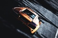 Picture races, track, Lamborghini, orange, cars