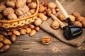 Picture nuts, walnut, the Nutcracker, basket, forest, almonds