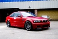 Picture red, red, the building, bmw, BMW, Chipiona wall, sports coupe, truck, e46