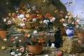 Picture vase, Jan van Kessel the Elder, animals, Still life with Flowers, picture, birds, basket