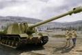 Picture russian tank, ISU-152, ww2, tank, war, art