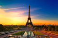 Picture colorful, Paris, France, Eiffel tower, the city, beautiful france, Paris sunset, sunset