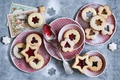 Picture holidays, winter, cookies, spoon, still life, Christmas, cookies, jam, dishes