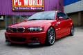 Picture red, red, glass, reflection, wall, air conditioning, back yard, bmw, BMW, sign, the fence, e46