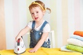 Picture girl, child, child, little girl, little, iron, kid