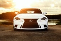 Picture Lexus, white, front, vossen wheels, IS F sport