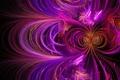 Picture wave, purple, line, abstraction, graphics, figure, fractal