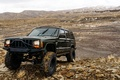 Picture stones, four-wheel drive, American, mountains, the roads, SUV, Jeep Cherokee