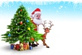 Picture Santa Claus, gifts, snow, snow, gifts, Christmas, santa claus, new year, christmas tree, new year, ...