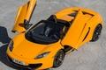 """Picture McLaren, door """"butterfly wings"""", MP4-12C, orange, supercar, Spyder"""