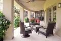 Picture flowers, furniture, Villa, terrace