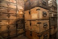 Picture metal, wood, storage, ammunition boxes