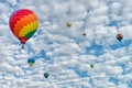 Picture balloon, clouds, the sky, landscape