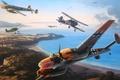 Picture aviation, ww2, painting, dogfight, art, drawing, gladiator mk2, Siege of Malta, battle for Malta, messerschmitt ...