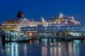 Picture lights, ship, pier, Singapore, liner, port