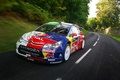 Picture Rally, The front, Speed, Road, Citroen, Red Bull, Car, S. Loeb