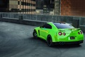 Picture nissan gtr, r35, green, Parking, sports car