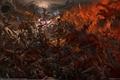Picture dragons, battle, dragons, fantasy, battle, Leo Hao, Razlom, fantasy, warriors, CG wallpapers